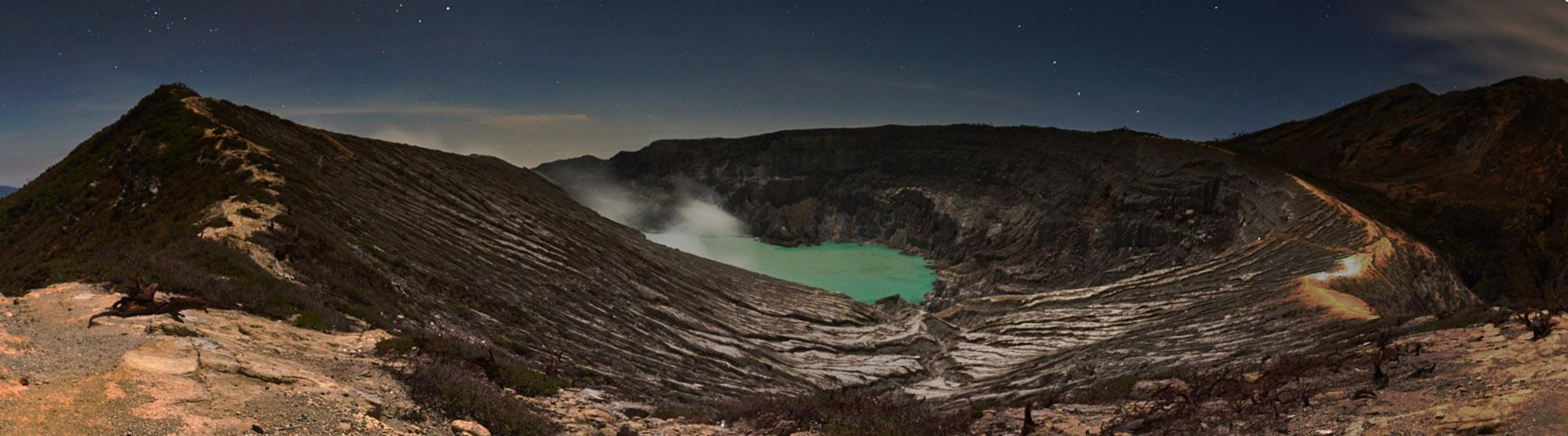 indonezja 0497PANO W siarkowym piekle   Wulkan Ijen