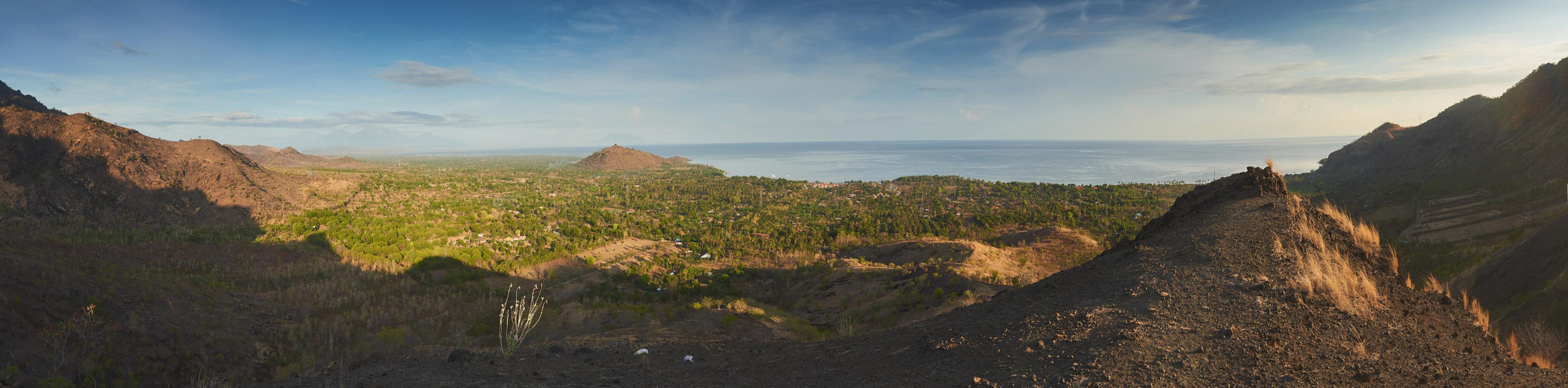 indonezja 0899 PANO Pemuteran, cicha wioska na wyspie Bali